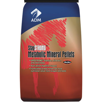 Picture of ADM StayStrong 40 Lb. Multi-Vitamin Horse Feed Supplement Metabolic Mineral Pellets