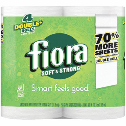 Picture of Fiora Soft & Strong Toilet Paper (4 Double Rolls)