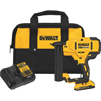 Picture of DeWalt 20 Volt MAX XR Lithium-Ion Brushless 18-Gauge 1/4 In. Crown Cordless Finish Stapler Kit