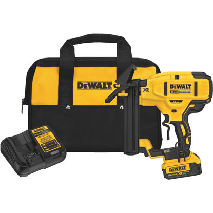 Picture of DeWalt 20 Volt MAX XR Lithium-Ion Brushless 18-Gauge 1/4 In. Crown 1-1/2 In. Cordless Floor Stapler Kit