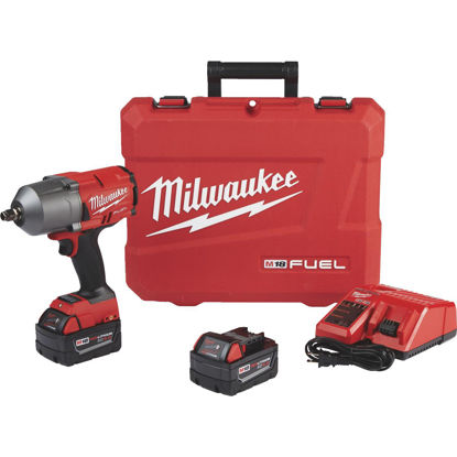 Picture of Milwaukee M18 FUEL 18-Volt Lithium-Ion Brushless 1/2 In. High Torque Cordless Impact Wrench Kit with Friction Ring Kit