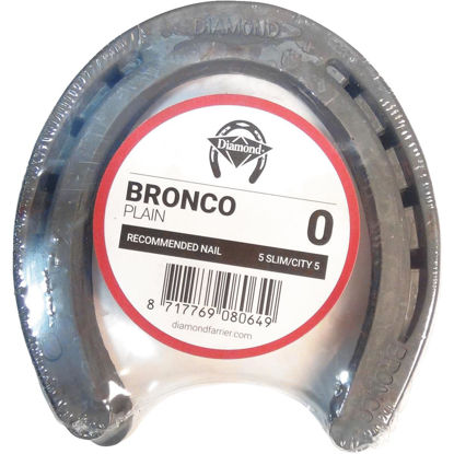 Picture of Diamond Plain Bronco Front & Hind 5 In. Horseshoe (1-Pair)