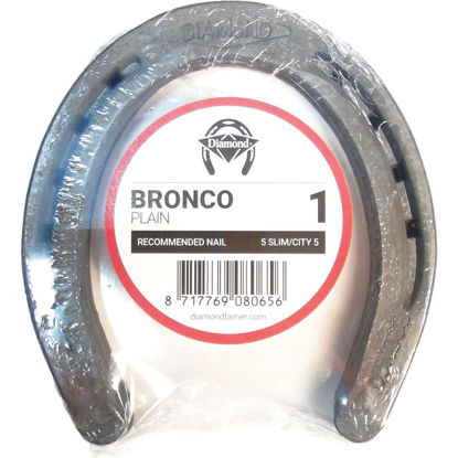 Picture of Diamond Plain Bronco Front & Hind 5-2/5 In. Horseshoe (1-Pair)