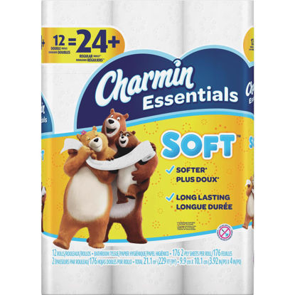 Picture of Charmin Essentials Soft Toilet Paper (12 Double Rolls)