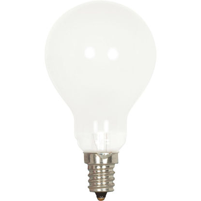 Picture of Satco 40W Frosted Soft White Candelabra A15 Incandescent Ceiling Fan Light Bulb (2-Pack)