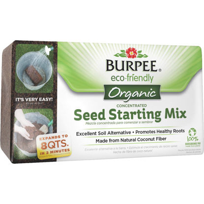 Picture of Burpee 8 Qt. Concentrated Brick In-Ground Organic Seed Starting Mix