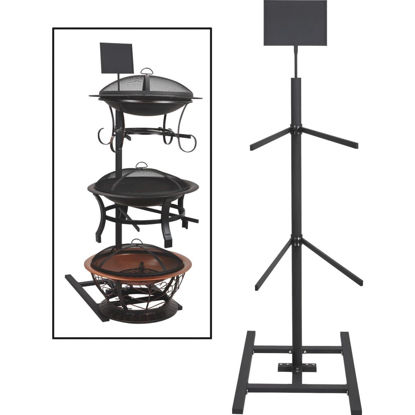 Picture of 74.80 In. H. Black Steel Fire Pit Display Rack