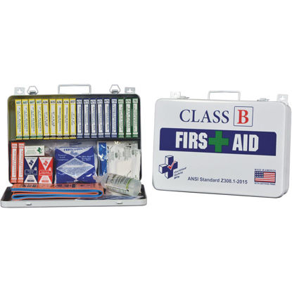 Picture of Certified Safety Class B ANSI & OSHA Certified First Aid Kit (117-Piece)