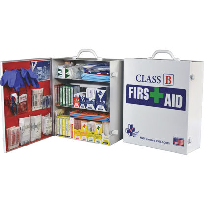 Picture of Certified Safety Class B ANSI & OSHA Certified Cabinet First Aid Kit (379-Piece)