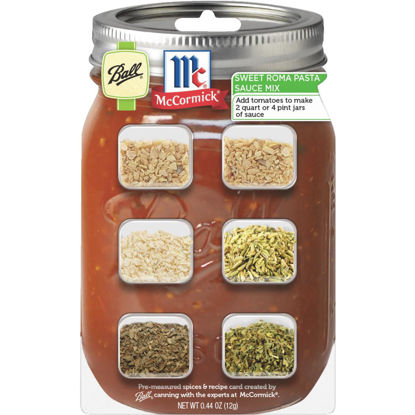 Picture of Ball & McCormick Pasta Sauce Recipe Card Mix