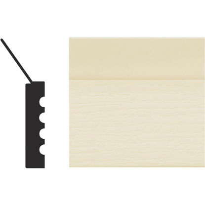 Picture of Royal Thermo Stop 2 In. W. x 7/16 In. H. x 7 Ft. L. Almond PVC Weatherstrip Garage Door Stop