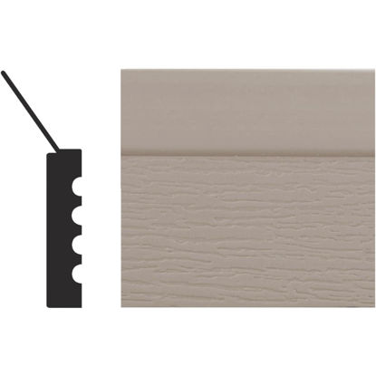 Picture of Royal Thermo Stop 2 In. W. x 7/16 In. H. x 7 Ft. L. Sandstone PVC Weatherstrip Garage Door Stop