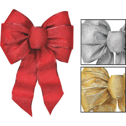 Picture of Holiday Trims 7-Loop 8-1/2 In. W. x 14 In. L. Assorted Glitter Christmas Bow