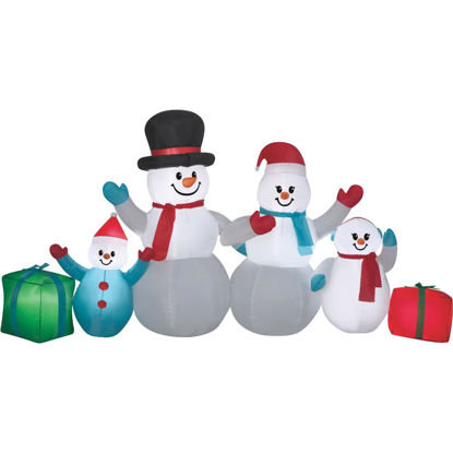 Picture of Gemmy 108 In. W. x 54 In. H. Airblown Inflatable Snowman Family