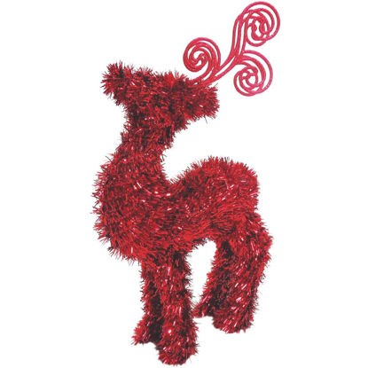 Picture of Youngcraft 14 In. Tinsel Deer Holiday Decoration