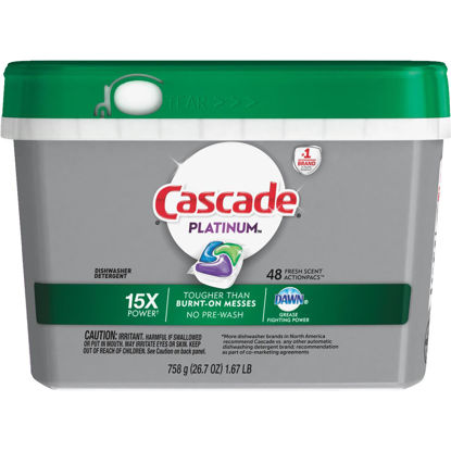 Picture of Cascade Platinum Action Pacs Fresh Dishwasher Detergent Tabs, 48 Ct.