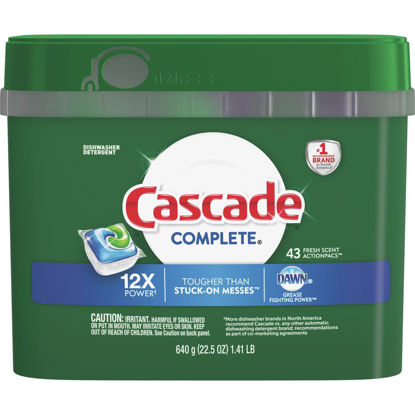 Picture of Cascade Complete Fresh Dishwasher Detergent Tabs, 43 Ct.