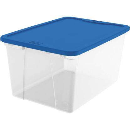 Picture of Homz 56 Qt. Clear Storage Tote