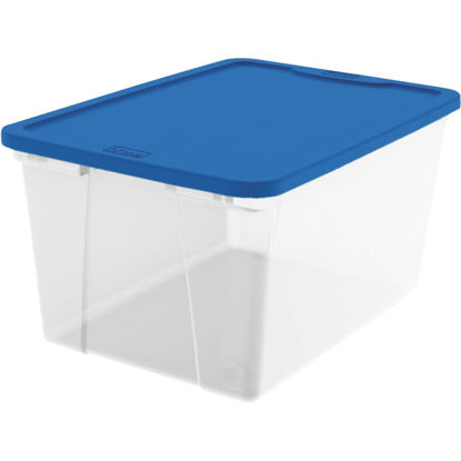Picture of Homz 64 Qt. Clear Storage Tote