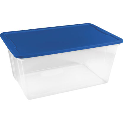 Picture of Homz 90 Qt. Clear Storage Tote