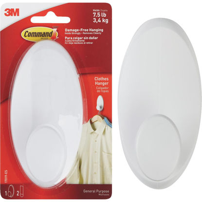 Picture of 3M Command White Adhesive Hanger Wardrobe Hook