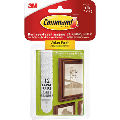 Picture of 3M Command Large Picture Hanging Strip 12-Pack