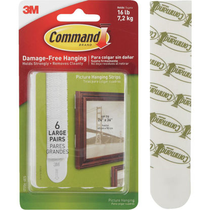 Picture of 3M Command Large Picture Hanging Strip 6-Pack