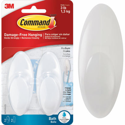 Picture of 3M Command Medium Bath Hook (2-Pack)