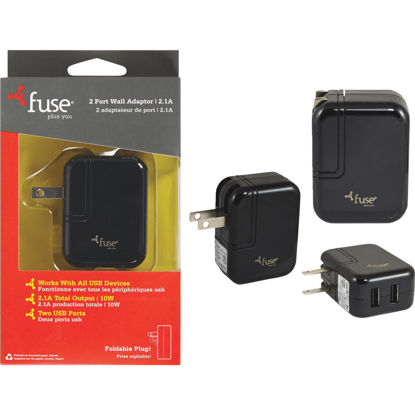 Picture of Fuse 2-Port Black Wall USB Charger