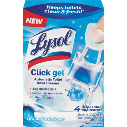 Picture of Lysol Click Gel Ocean Fresh Automatic Toilet Bowl Cleaner (4-Pack)