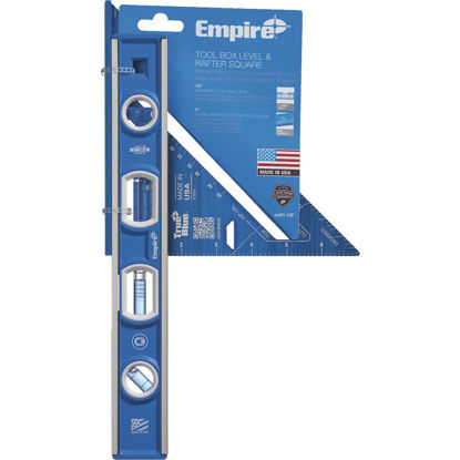 Picture of Empire True Blue Torpedo Level & Rafter Square Combo Tool Set (2-Piece)