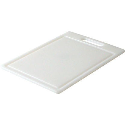 Picture of Grande Epicure 10 In. x 14 In. White Polyethylene Cutting Board with Juice Well