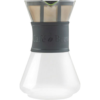 Picture of Medelco Cafe Brew 8 Cup Glass Pour-Over Coffee Maker