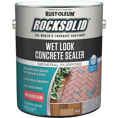 Picture of Rust-Oleum RockSolid Wet Look Concrete Sealer, 1 Gal., Clear