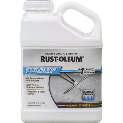 Picture of Rust-Oleum Moisture Stop Fortifying Concrete Sealer, 1 Gal., Clear