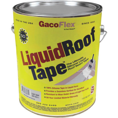 Picture of GacoFlex LiquidRoof Tape 100% Silicone Liquid Tape, Gray, 1 Gal.