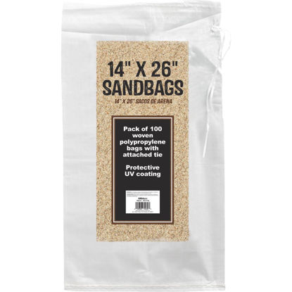 Picture of 14 In. x 26 In. Empty Sandbags (100-Pack)