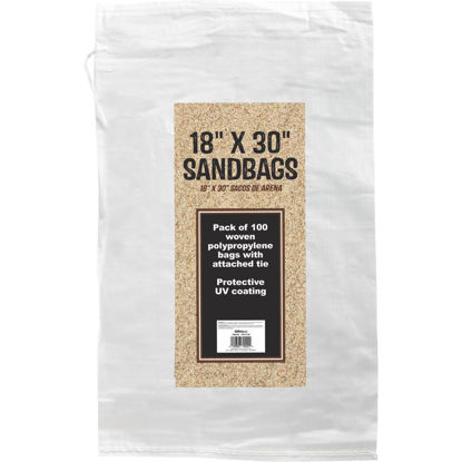 Picture of 18 In. x 30 In. Empty Sandbags (100-Pack)