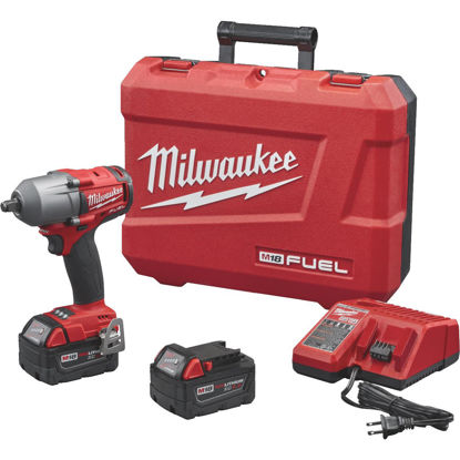Picture of Milwaukee M18 FUEL 18-Volt Lithium-Ion Brushless 1/2 In. Mid-Torque Cordless Impact Wrench with Friction Ring Kit