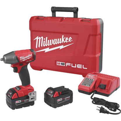 Picture of Milwaukee M18 FUEL 18-Volt Lithium-Ion Brushless 3/8 In. Compact Cordless Impact Wrench with Friction Ring Kit