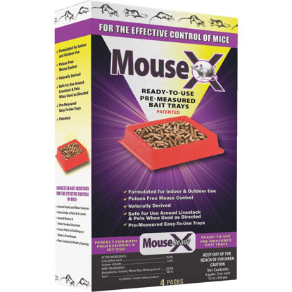 Picture of MouseX Disposable Mouse Pre-Measured Bait Tray (4-Pack)