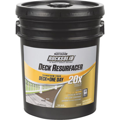 Picture of Rust-Oleum RockSolid Tint Base Deck Resurfacer, 4 Gal.