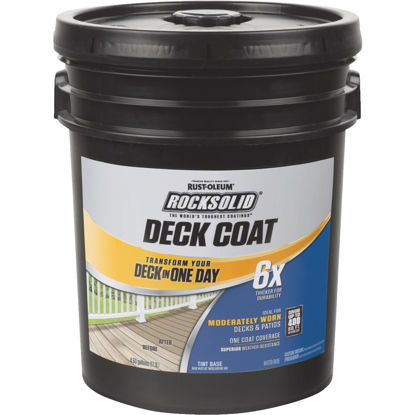 Picture of Rust-Oleum RockSolid Tint Base Deck Coat, 5 Gal.