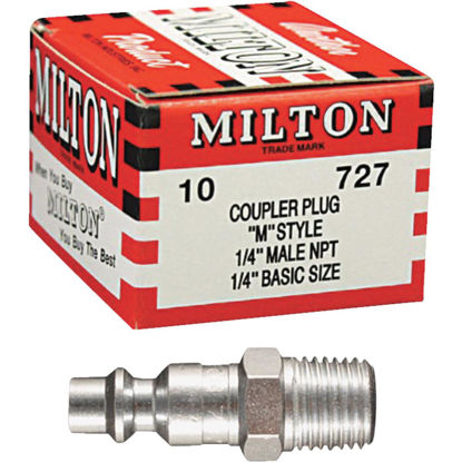 "Picture of Milton M-Style 1/4"" Male NPT Plug (10-Pack)"
