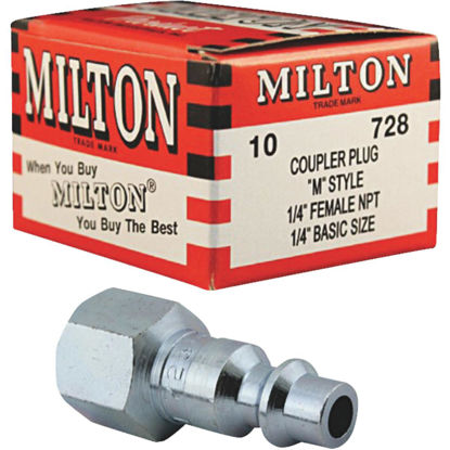 "Picture of Milton M-Style 1/4"" Female NPT Plug (10-Pack)"