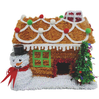 Picture of Youngcraft 9 In. Tinsel Tabletop Gingerbread House Holiday Decoration