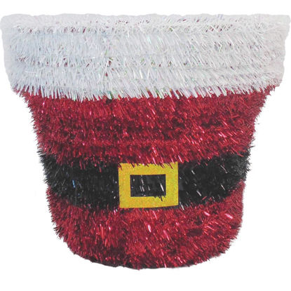 Picture of Youngcraft 10 In. Tinsel Tabletop Santa Bucket Holiday Decoration