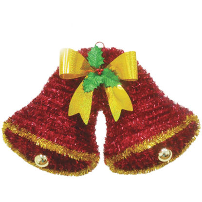 Picture of Youngcraft 20 In. Tinsel Double Bell Holiday Decoration