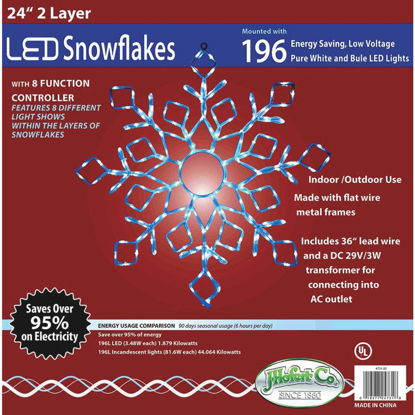 Picture of J Hofert 24 In. LED Lighted Snowflake