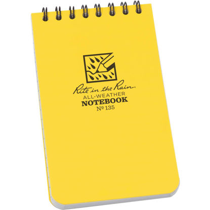 Picture of Rite in the Rain 3 In. W. x 5 In. H. Yellow 50-Sheet Top Spiral Bound All-Weather Memo Pad